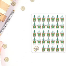 Iced Coffee Planner Stickers