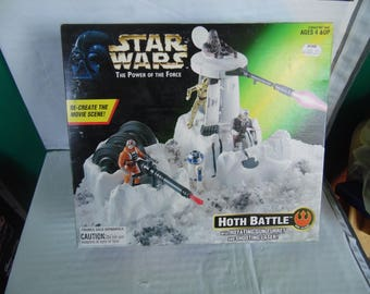Star Wars Power of the force Hoth Battle 1990's Kenner