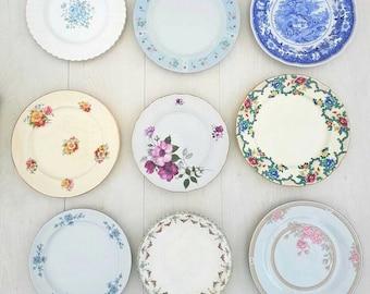Dinner plates vintage plates vintage crockery mismatch China mismatch crockery wedding China wedding crockery bulk plates teaparty & Dinner plate | Etsy