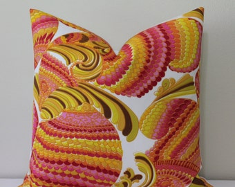 """SALE - Trina Turk 20"""" x 20"""" - Front Only - Pisces Print in Punch Designer Pillow Cover"""