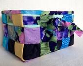 Woven Fabric Basket, Flor...
