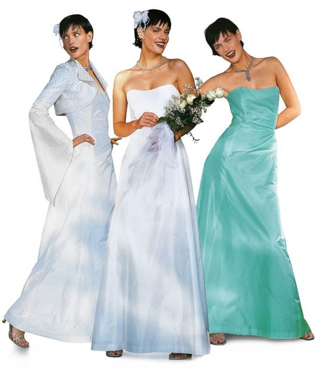 Burda 8320 Strapless Wedding Dress & Jacket Sewing Pattern Sizes 10 ...