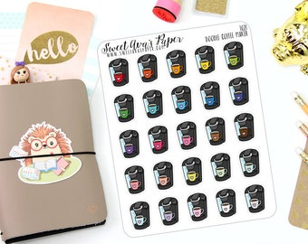 Coffee Planner Stickers - Morning Coffee Planner Stickers - Me Time Stickers - Coffee Monday Stickers - Doodle Icon Planner Stickers - 1021
