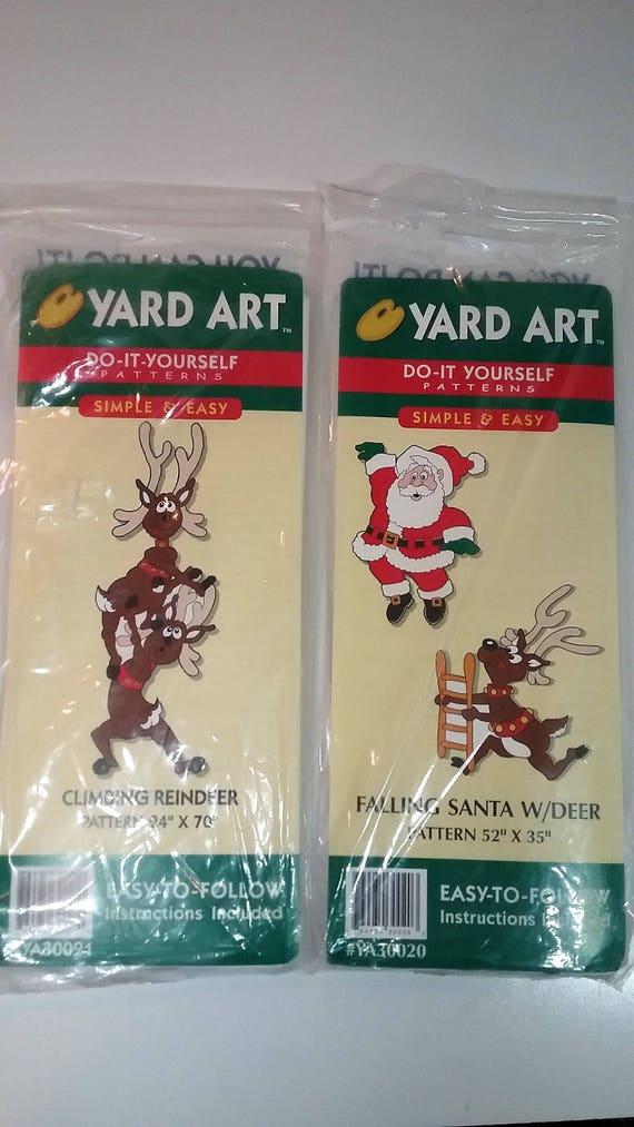 Christmas yard art do it yourself patterns and directions climbing christmas yard art do it yourself patterns and directions climbing reindeer and falling santa with deer solutioingenieria Images
