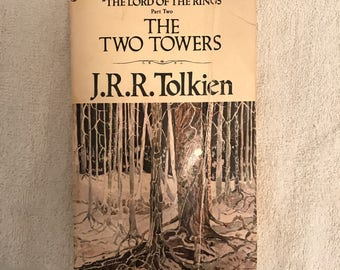 SALE!! Vintage J.R.R. Tolkien The Two Towers Book