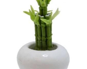 Dollhouse Miniature Bamboo In a Bowl