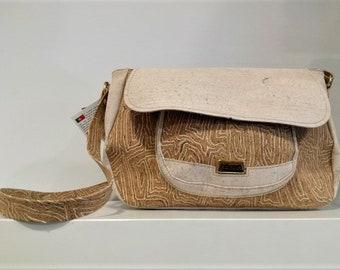 Cork Handbag made in Natural Cork - Fine Cork Bag - Natural Cork Purse Women's Handbag Eco-friendly