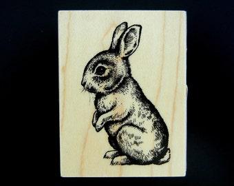 Inkadinkado BUNNY Wood Mounted Rubber Stamp