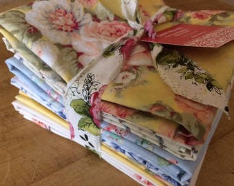 Wedding Cloth Napkins, Shabby Chic, Cottage Chic, Muted Tones, by Chow with ME