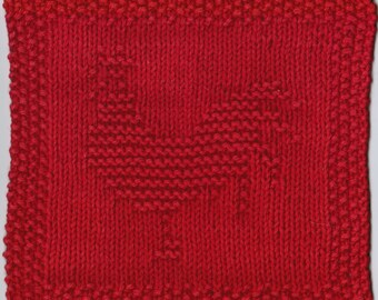 Rooster Knit Dishcloth Pattern Only *PDF Digital Download*