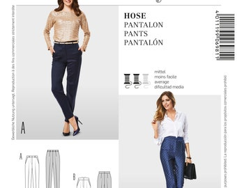 Burda 6981 Size 8-20 Misses Slender Pants with Crease Sewing Pattern / Uncut/FF