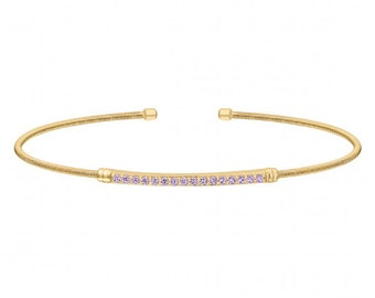 Bella Cavo Bracelet June Birthstone