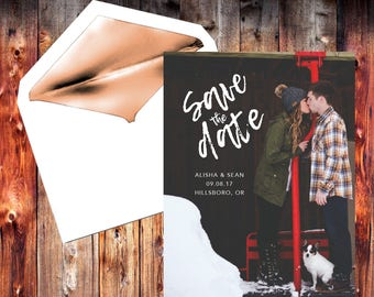 Save the Date / Wedding / Template / Printable / Digital Download / Instant Download / Personalized / Custom / Wedding Invitation / Postcard