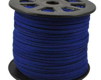 20Yds 3mm Dark Blue Faux Suede Leather Cord