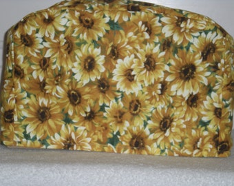 Toaster Cover - 4 slice - Yellow Sunflower