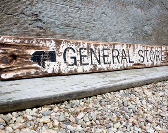 General Store Sign Country Decor Grocery Sign Farmhouse Decor Rustic Wood Sign Decor Distressed Wood Sign