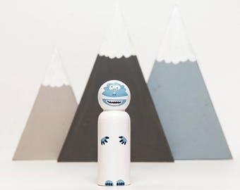 Abominable Snowman / Yeti Peg Doll
