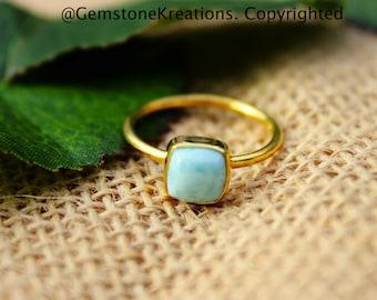 Larimar Rings, Stackable Rings, Knuckle Rings. Gold Stacker Rings, Midi Rings
