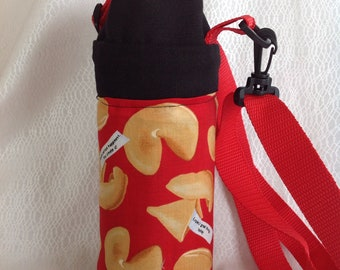 Insulated tote for 16 - 25 oz. (half liter to 750ml) containers fortune cookie