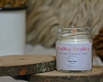 Everything, Everything - 1.5oz Candle - Nicola Yoon - Scented Soy Candle - Book Lover Gift