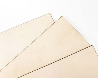 Natural Full Grain Leather Square Pieces