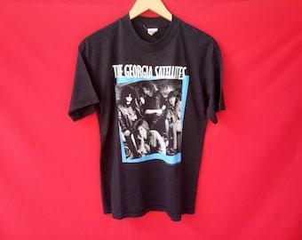 vintage The Georgia satellites rock band music concert  80's t shirt