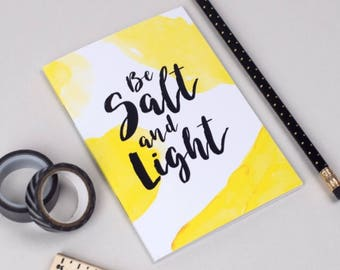Christian Notebook   A6 Journal   Be Salt and Light   Plain Pages   A Great Gift