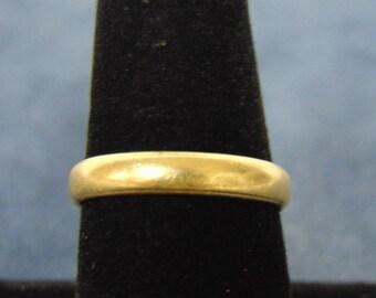 Vintage Estate 14k Yellow Gold Wedding Band Ring 3.1g #E2187