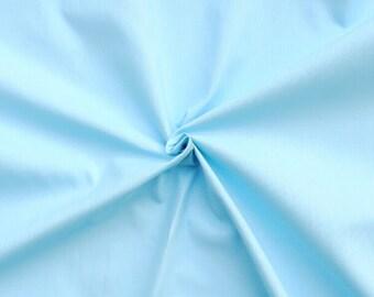 Blue Pastel Cotton Plain Solid Colour 140 gsm 100% Cotton Fabric FQ Half Full Metre