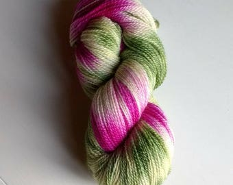 Clover, hand dyed sock yarn