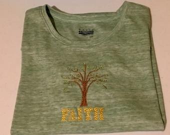 Faith embroidered t-shirt