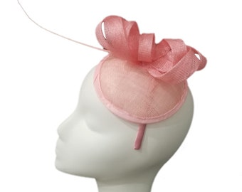 Free Shipping! Pink Fascinator With Statement Quill Detail
