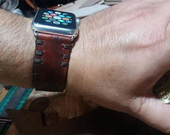 Apple Watch Band 42 Apple Watch Leather Band Apple Watch Strap Apple Leather Watch Band Gift Him