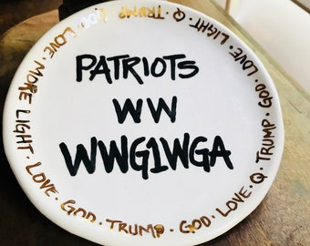 Trust the plan Snack plate spoon rest  #Q
