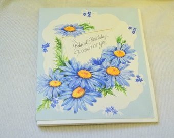 1950s NOS Belated Birthday Card with Envelope