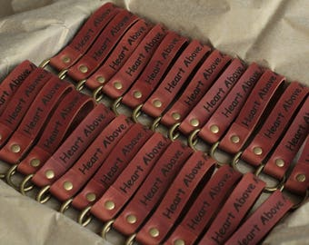 Custom leather key fob, Leather keychain personalized, Engraved leather keychain, Leather strap keychain, Custom leather keychain 7 Colors