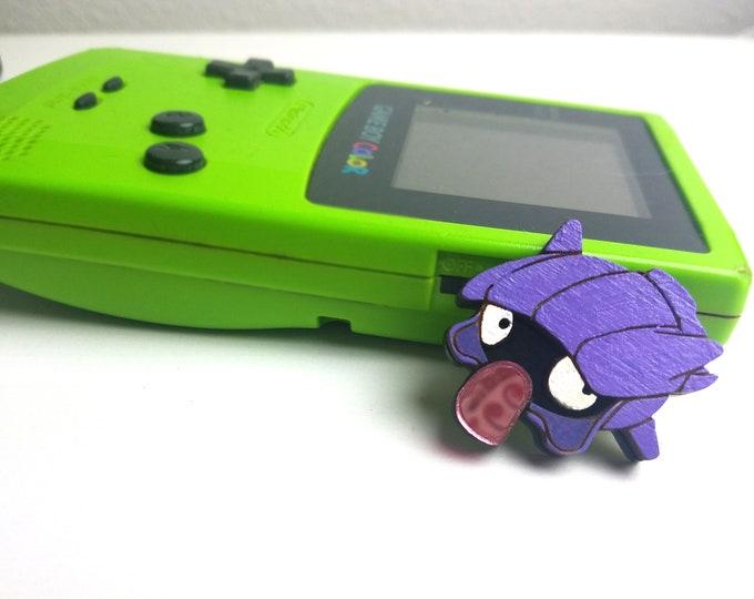 3D Layered Shellder Pokemon Inspired Pin | Laser Cut Jewelry | Handmade Pin | Wood Pin