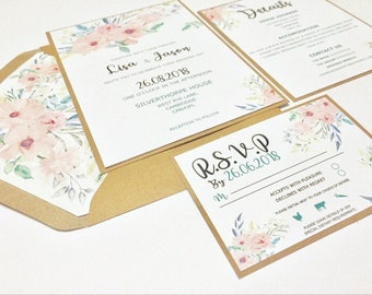 Mint wedding invite Etsy