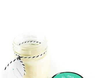 San Francisco || Scented Soy Candle || California || Carnation || Lily || Violet || Handmade || Handpoured || Mason Jar Candle