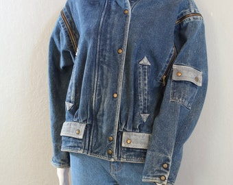80's denim jacket, jean jacket