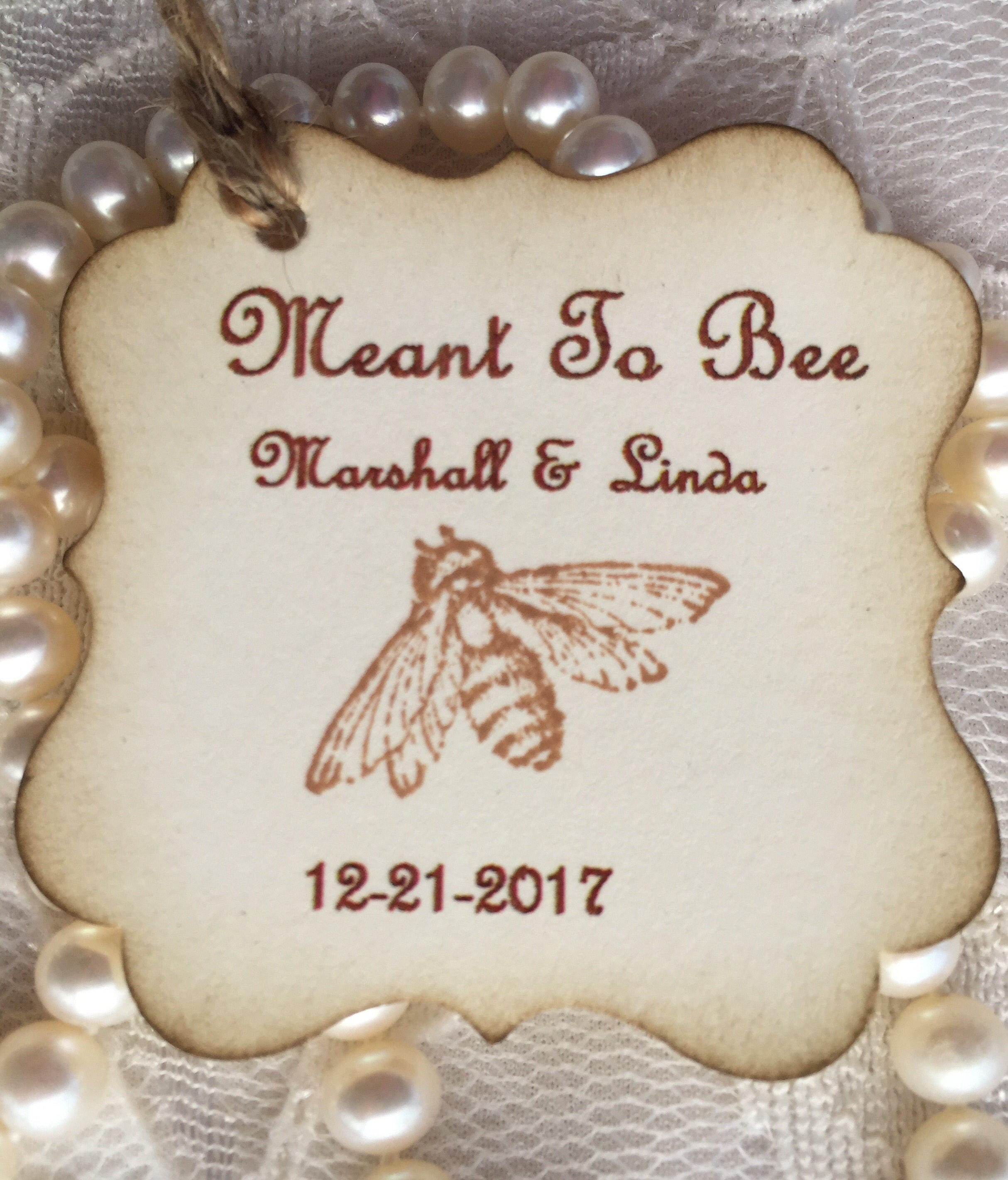Meant to Bee tags 30 Honey Favor Tags Wedding favor tag