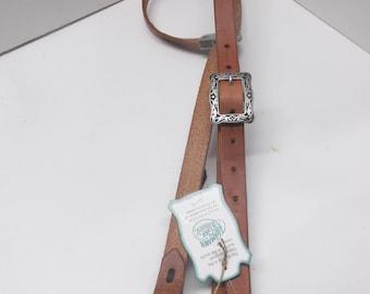 Hermann Oak Harness Leather Headstall Bridle Stainless Steel Jeremiah Watt hardware