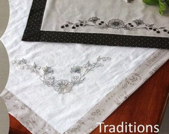Crabapple Hill Traditions Table Runners 267 Hand Embroidery Pattern