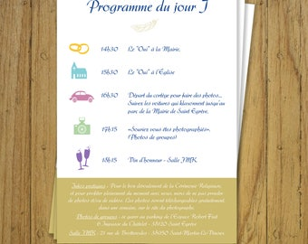 Wedding program - invitations