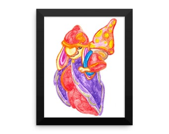 Colorful Gnome Framed poster