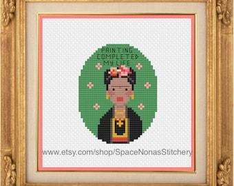 Frida Kahlo - Cross Stitch Pattern - Downloadable PDF