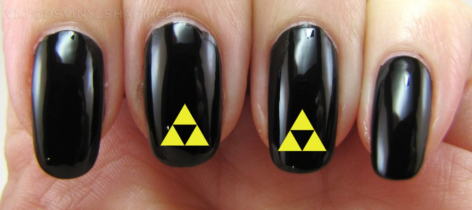 Set of 52 Triforce Legend of Zelda Vinyl Nail Decal Stickers ...