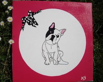 Bulldog original mural painting