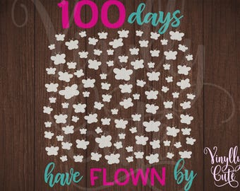 SVG - 100 Days Have Flown By - Butterfly - 100 Days - 100 Butterflies - Digital File Only - svg , png , jpg - 100 Days of School