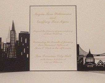 San Francisco Skyline Wedding Invitation